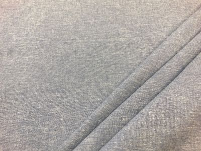 Plain linen viscose chambray Light blue C552