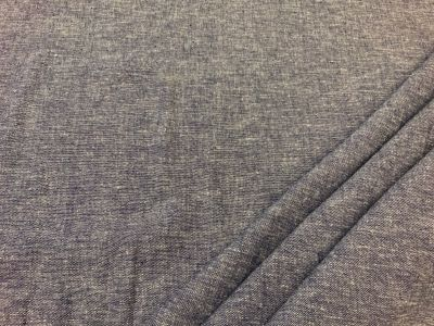 Plain linen viscose chambray Dark blue C549