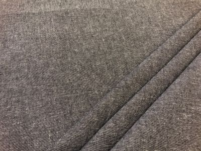 Plain linen viscose chambray Black C550