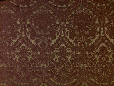 Faux Silk Damask Coffee