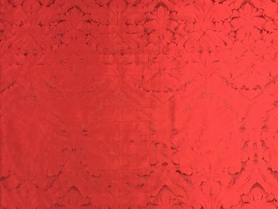 Faux Silk Damask Red