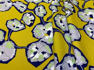Floral Cut Outs Mustard Tex Ex 2235