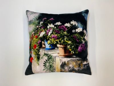 Alison Holt Flower Pots Cotton Velvet Cushion