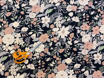 Francesca Large Flower cotton poplin C529