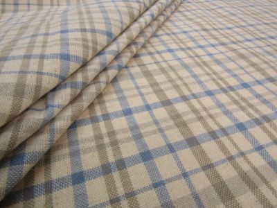 French Country Check Blue A138