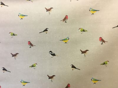 Garden Birds Matt PVC Natural G43