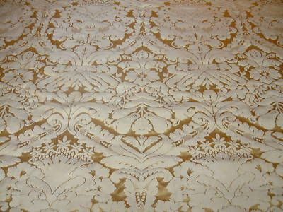 Faux Silk Damask Gold