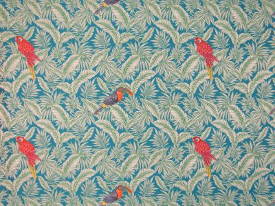 Tropical Parrots Teal H116