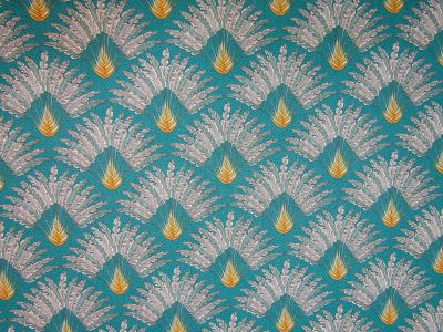 Persia Palm Teal Gold H127