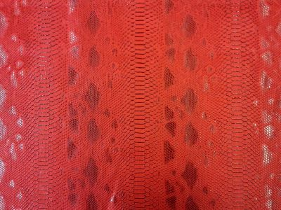 Snakeskin Leatherette Red H46