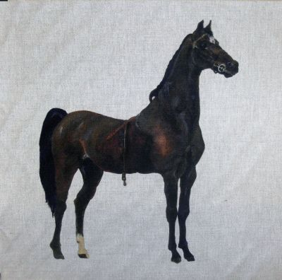 Hackney Horse Cushion Panel