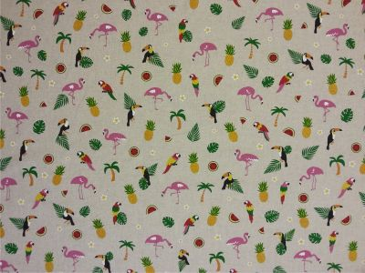Happy Flamingos Linen T2