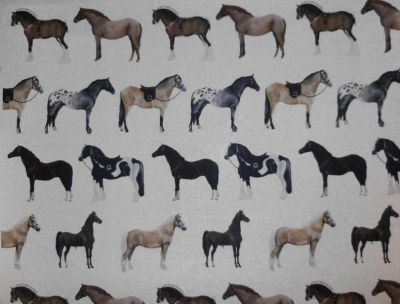 Tex Ex Originals Horses Multi 2X2