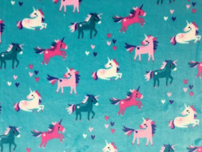Unicorn Cuddle Fleece Aqua I14