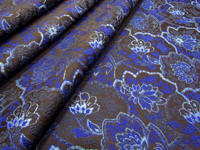 Floral Brocade Navy Blue I150