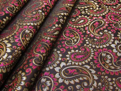 Paisley Brocade Brown Pink I172