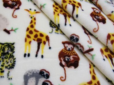 Baby Safari Cuddle Fleece Ivory I177