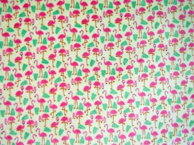 Flamingo Cuddle Fleece Ivory Pink I38