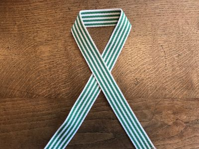 Striped Cotton Webbing Green 3.5cm