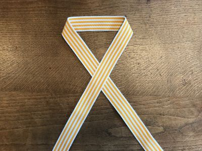 Striped Cotton Webbing Yellow 3.5cm