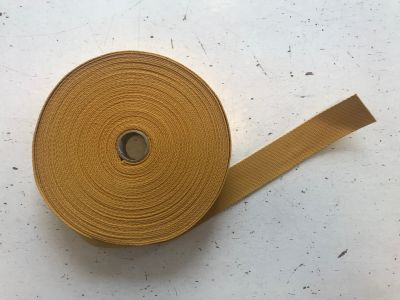 WIDER 4cm Cotton Webbing Mustard col 42