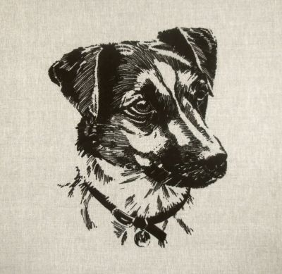 Working Dogs Jack Russell Terrier Cushion Panel