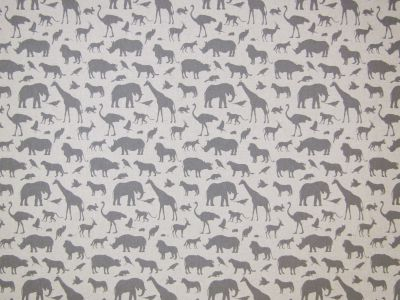 Grey Animals Linen K16