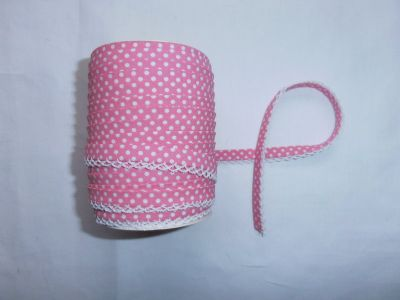 Rose Spotty Lace Bias Binding