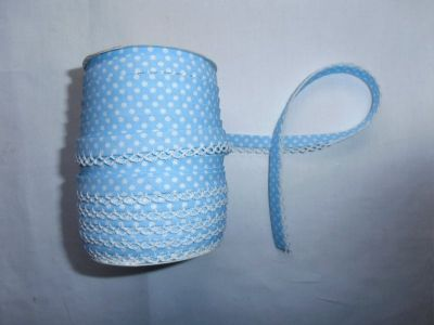 Sky Spotty Lace Bias Binding