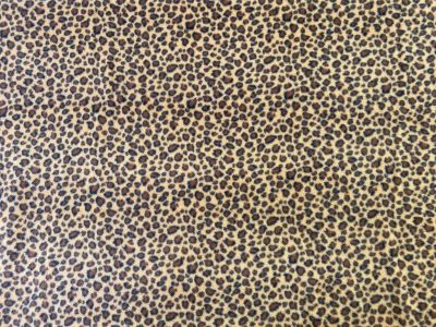 Leopard Fleece Tan Brown C502