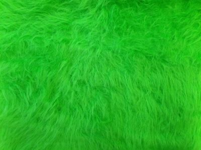 Plain Long Hair Fur Lime AC356