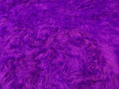 Plain Long Hair Fur Purple
