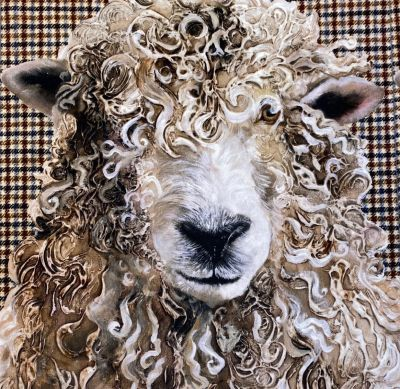Longwool Ram Tweed Cotton Velvet Cushion Panel