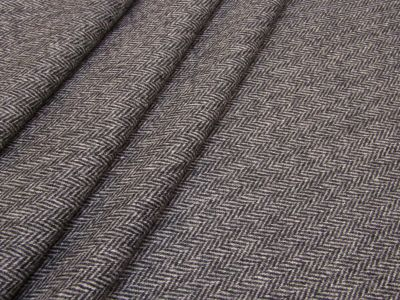 Moon Lybone Herringbone Wool Charcoal