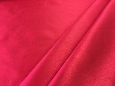 Matt Satin Back Shantung Red I166
