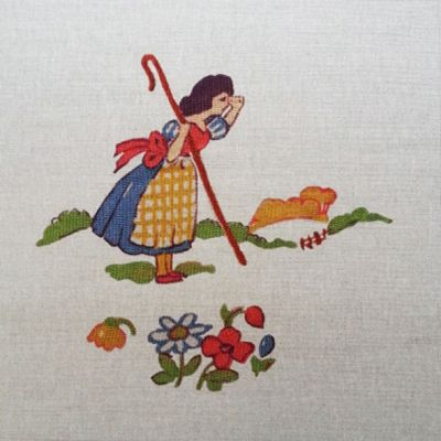 Tex Ex Vintage Nursery Bo Peep Cushion Panel