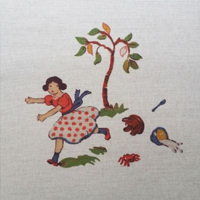 Tex Ex Vintage Nursery Miss Muffet Cushion Panel