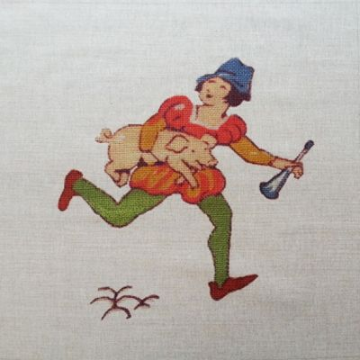 Tex Ex Vintage Nursery Rhymes Tom Tom Cushion Panel