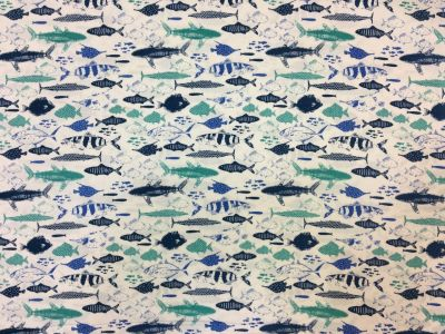 Explore Ocean Fish Teal/Blue P54