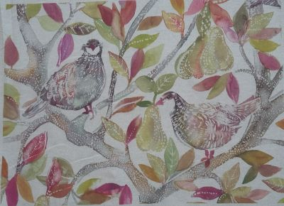 Voyage Cushion Panel Partridge Autumn