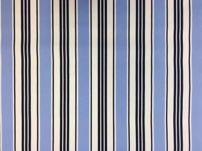 Pavillion Stripe PU Coated Navy Blue C170