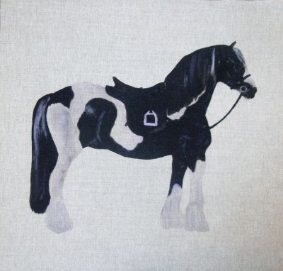 Piebald Horse Cushion Panel 18