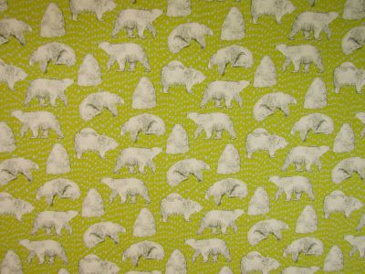Polar Bears Yellow Ivory Blue D80