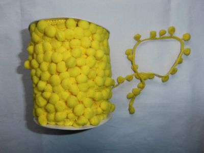 Yellow Pom Pom Trim
