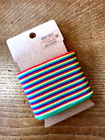 Rainbow Stripe Cuffing Rainbow B164
