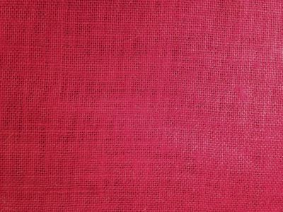 Red Hessian Fabric