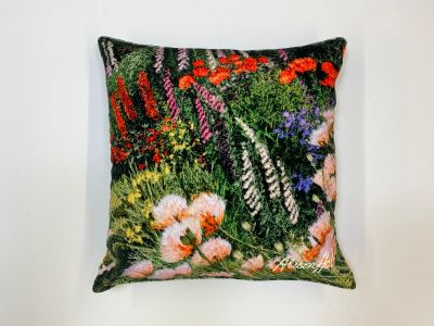 Alison Holt Red House Garden Cotton Velvet Cushion