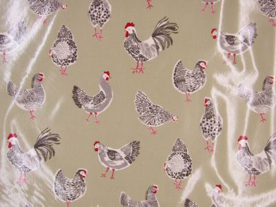 Clarke and Clarke Rooster Sage PVC