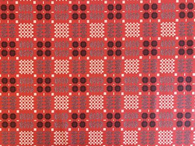 Welsh Oilcloth Red S48