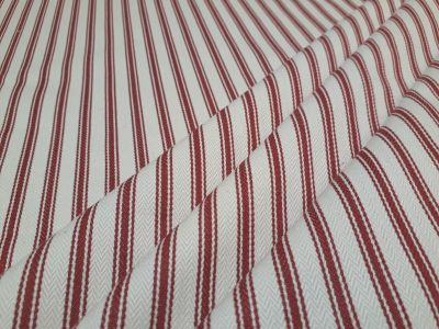 French Woven Ticking Red S4